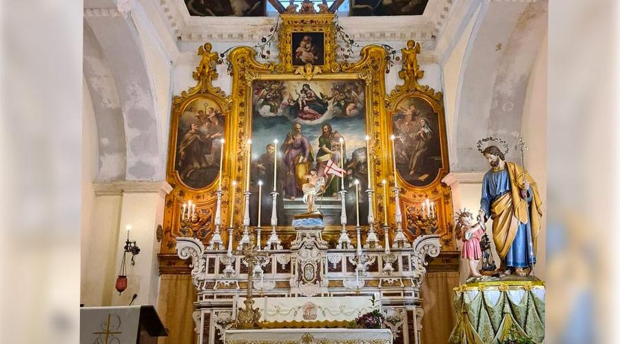 Altare dell'Oratorio di San Giuseppe a Gallipoli