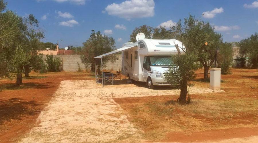 Campeggio Parco degli ulivi vicino a baia verde di Gallipoli