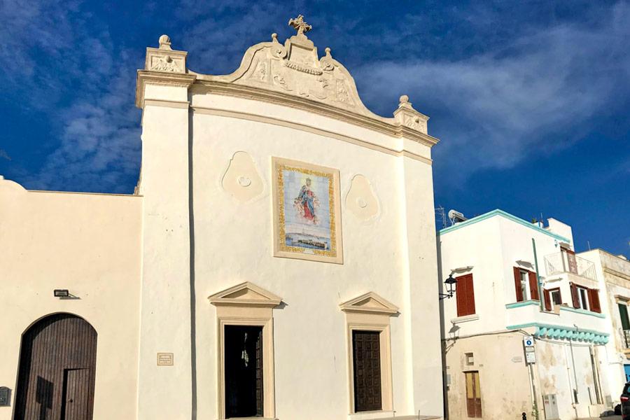 Facciata della chiesa di Santa Maria degli angeli a Gallipoli