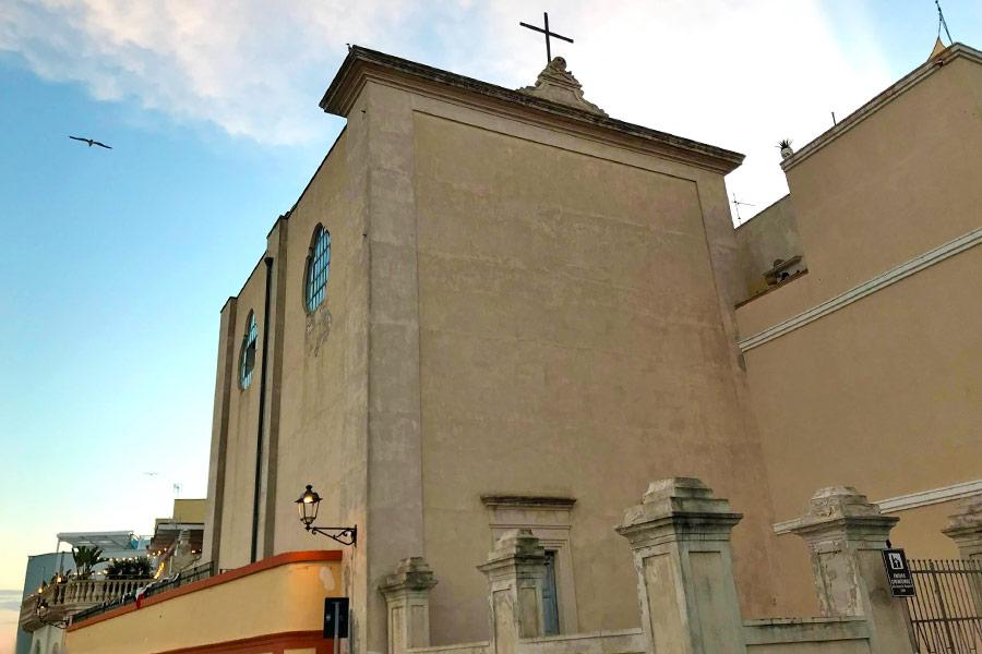 La chiesa delle anime del Purgatorio vista dall'esterno