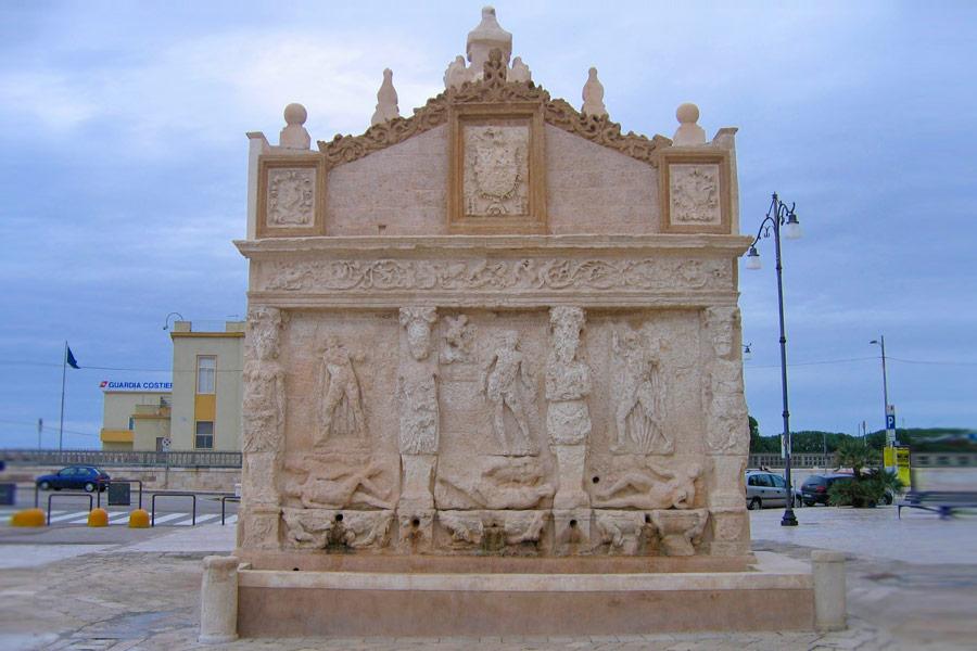 la Fontana Greco-Romana di Gallipoli