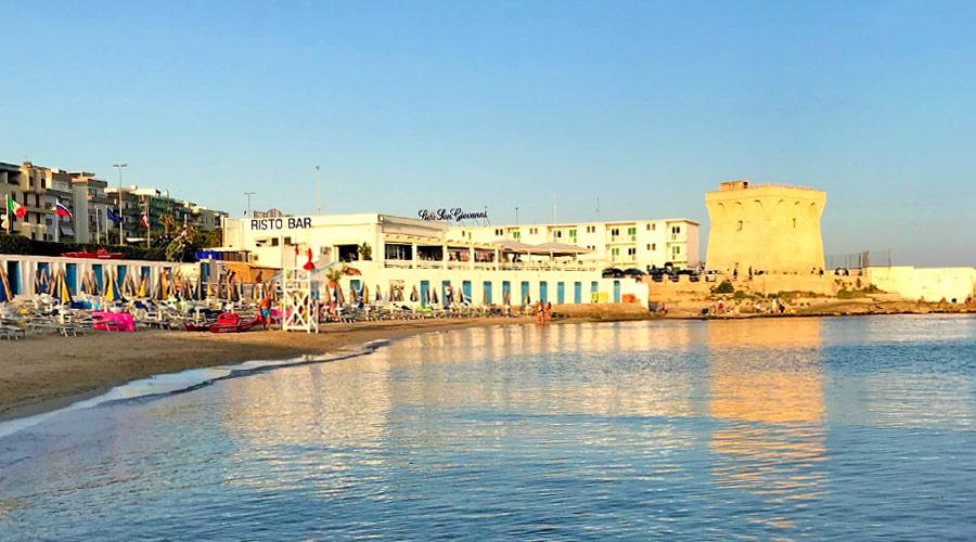 Spiaggia di lido piccolo a Gallipoli