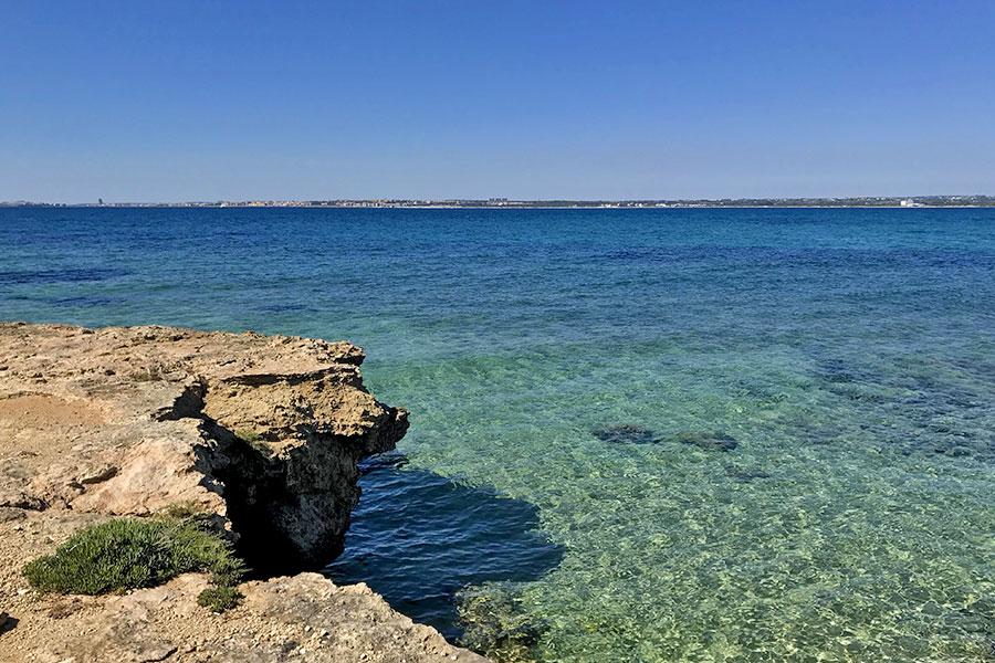 Il mare a Punta Pizzo