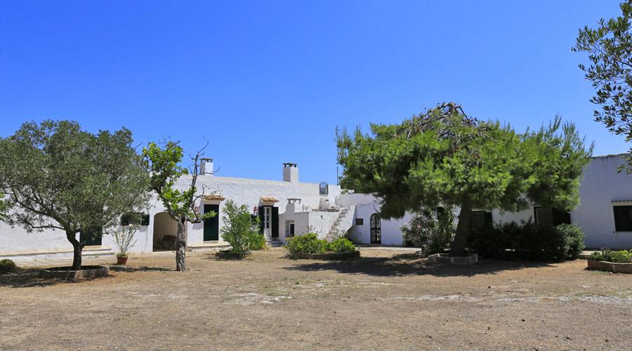 Masseria di punta pizzo nel parco regionale di punta pizzo a Gallipoli